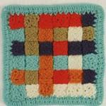 Woven Square Crochet Motif