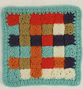 Woven-crochet-square-motif