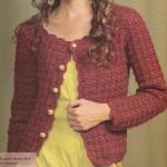 Chaqueta Crochet Metalizada