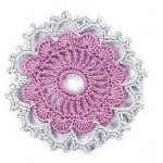 Two Toned Openwork Crochet Circle