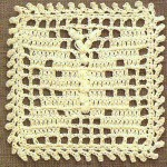 Crochet Square with Butterfly