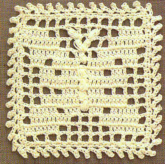 Crochet Square With Butterfly Crochet Kingdom