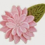 Double Flower and Leaf Crochet