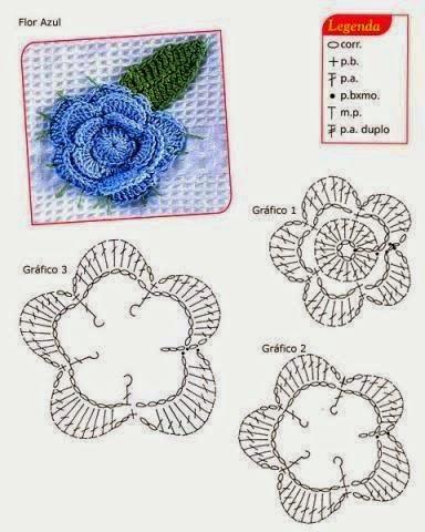 flor crochet con gragico