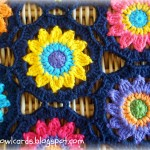 Crochet Sunny Flower Motif Table Runner