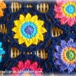 Crochet Sunny Flower Motif Table Runner