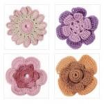 4 Beautiful Crochet Flower Patterns