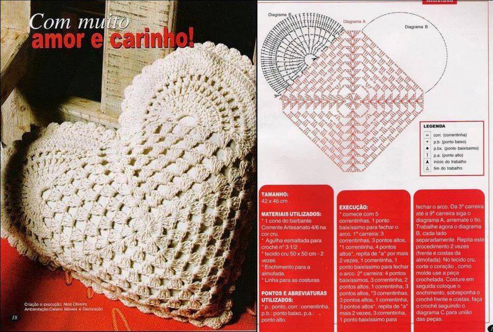 Crochet Heart Shaped Pillow Crochet Kingdom