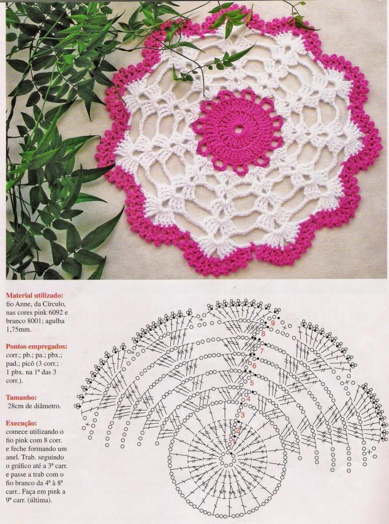 Описание для вязания салфетки 678