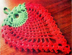 Strawberry Shaped Doily