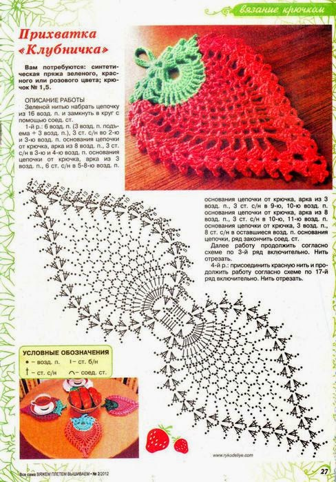 Strawberry Shaped Doily ⋆ Crochet Kingdom