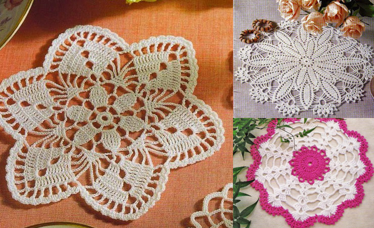 Three Small Doilies Crochet Kingdom