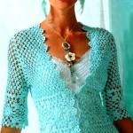 Turquoise Crochet Cardi