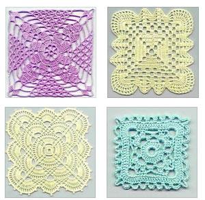 four free square crochet motifs crochet kingdom