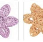 6 Petal Crochet Flowers