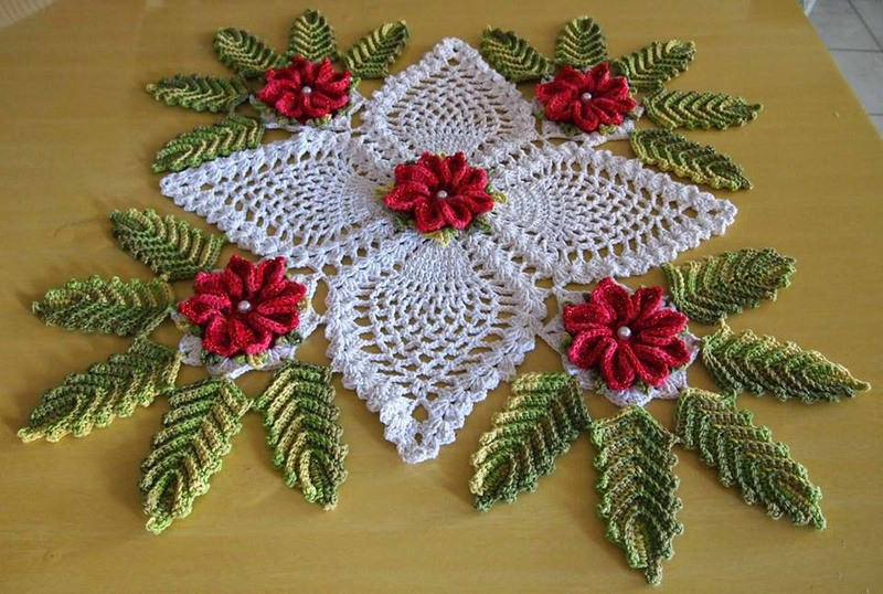 Crochet Patterns Xmas : Christmas Decoration Doily ? Crochet Kingdom
