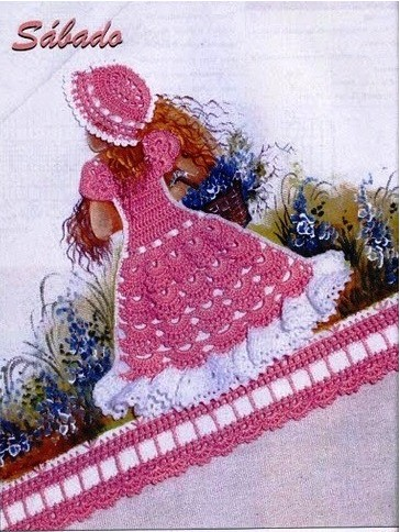 Crochet Doll Dress Applique Patterns ⋆ Crochet Kingdom
