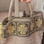 Crochet Handbag with Square Motif