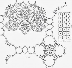 Crochet Patterns Of Lace Tablecloth 1