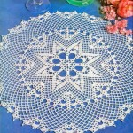 Crochet Tablecloth Pattern - Large Lace Dolly
