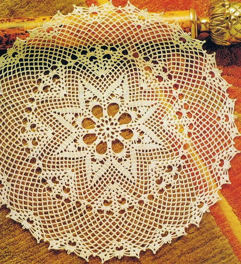 Crochet Tablecloth Pattern Large Lace Dolly ⋆ Crochet