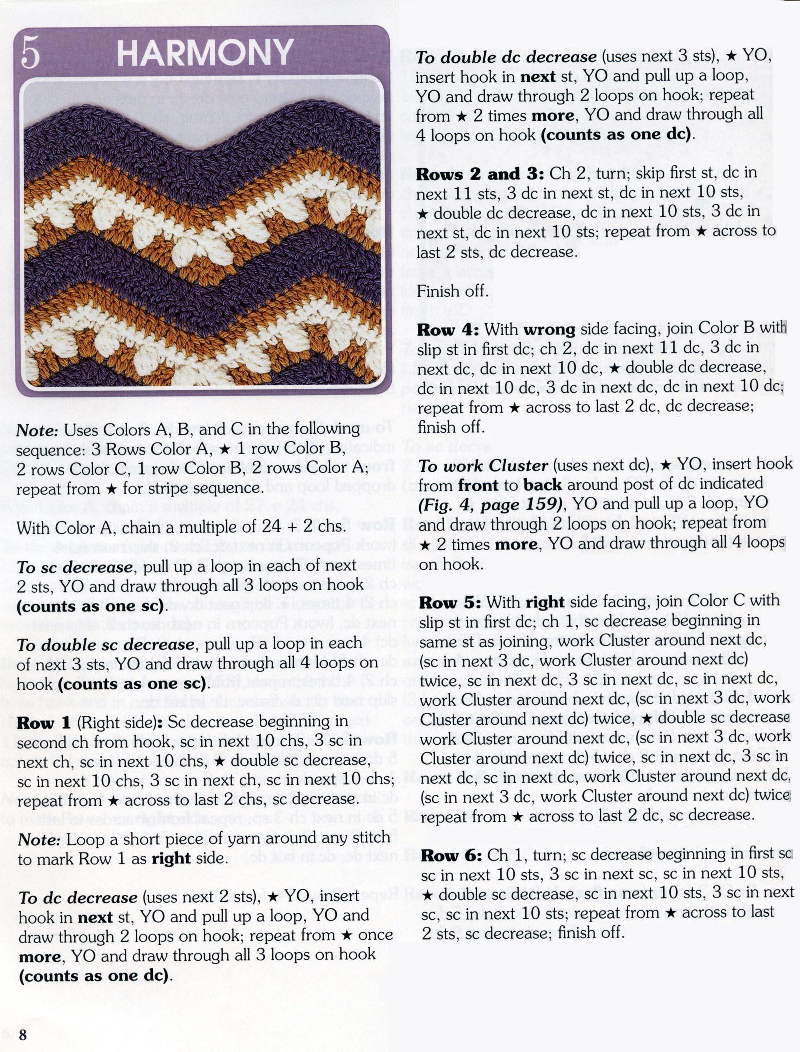 Crochet Wave Pattern Stitch 1