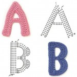 Crochet Alphabet Chart Diagram A to Z