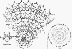 Crochet-pattern-free-doily simple 2