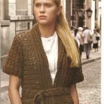 Short Sleeve Crochet Cardigan