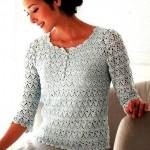 Elegant Crochet Blouse for Ladies