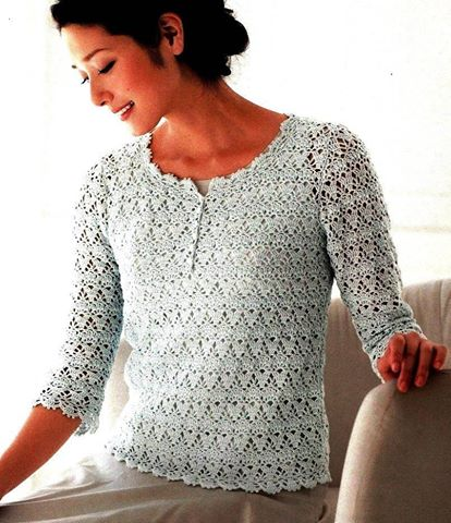 Elegant Crochet Blouse for Ladies
