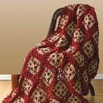 Flower Throw Crochet Afghan