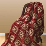 Flower Throw Crochet Afghan