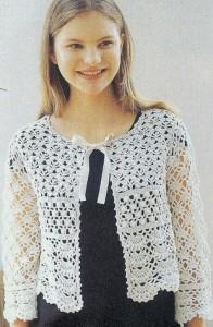 Lace bolero crochet