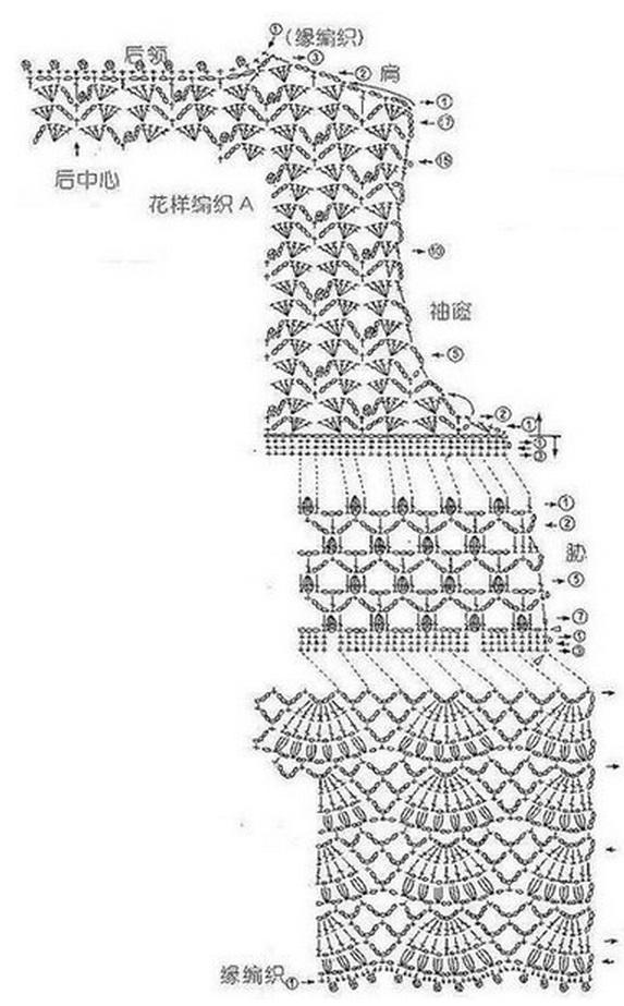 Crochet Bolero Jacket Diagram Block And Schematic Diagrams