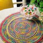 Multi-Colored Crocheted Doily