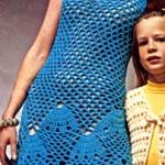 Seashell Shift Pattern Crochet Dress