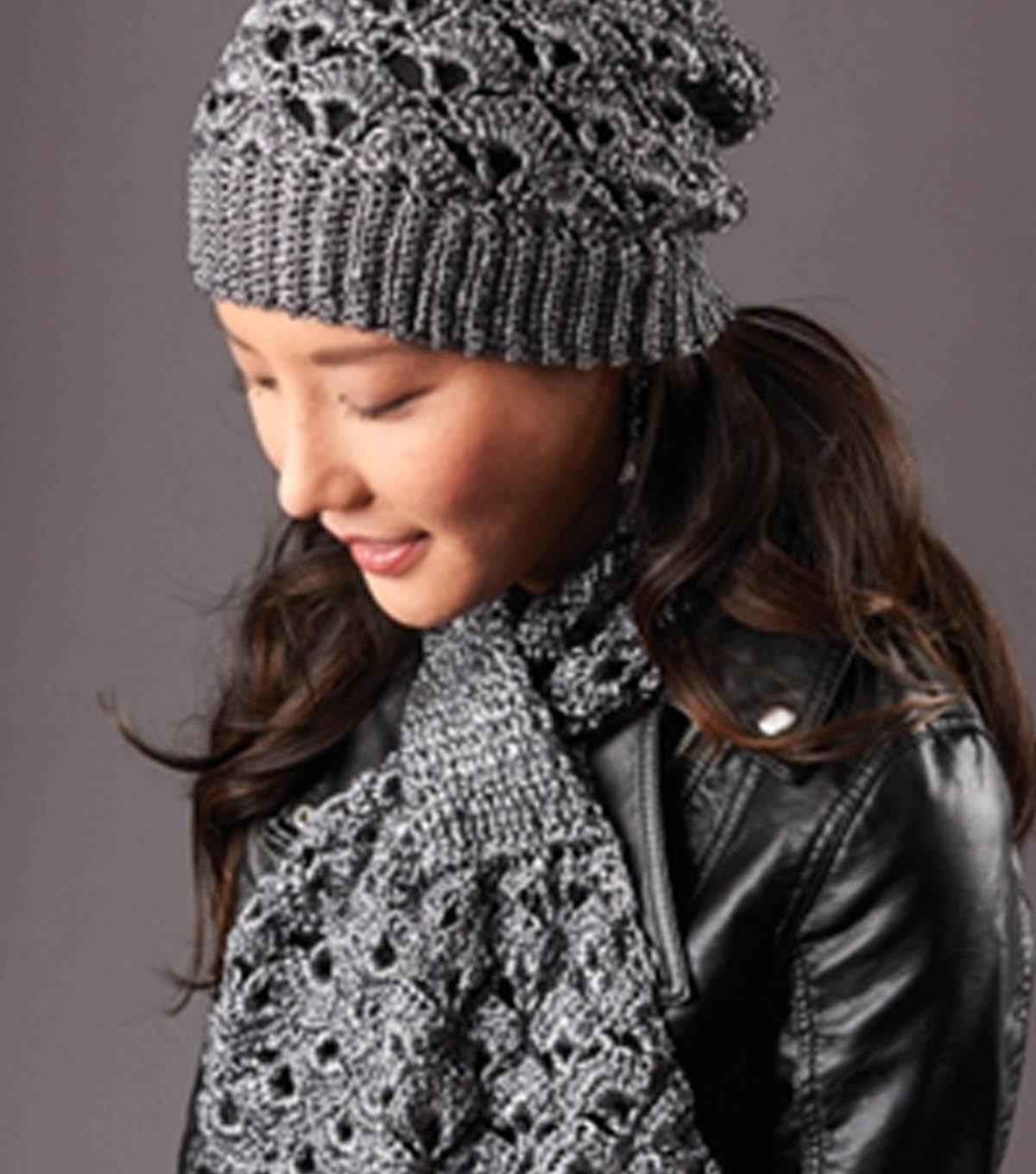 silver screen hat and scarf crochet kingdom