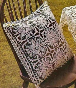 Tablecloth And Pillow Cover - Crochet Tablecloth Free Pattern 1