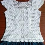 White Cotton Lace Top