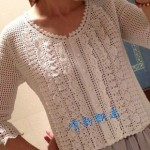 Pretty White Lace Crochet Jacket
