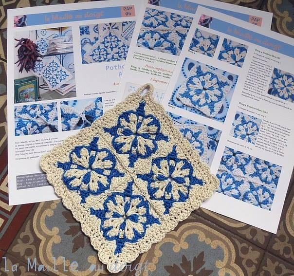 Blue And White Crochet Square ⋆ Crochet Kingdom