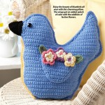 Crochet Pillow - Bluebird