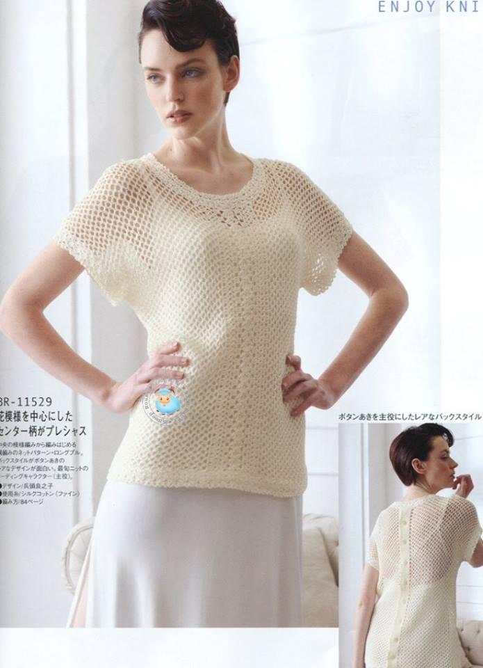 Crochet Button Back Top Pattern ⋆ Crochet Kingdom
