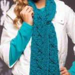 Crochet Cabled Scarf