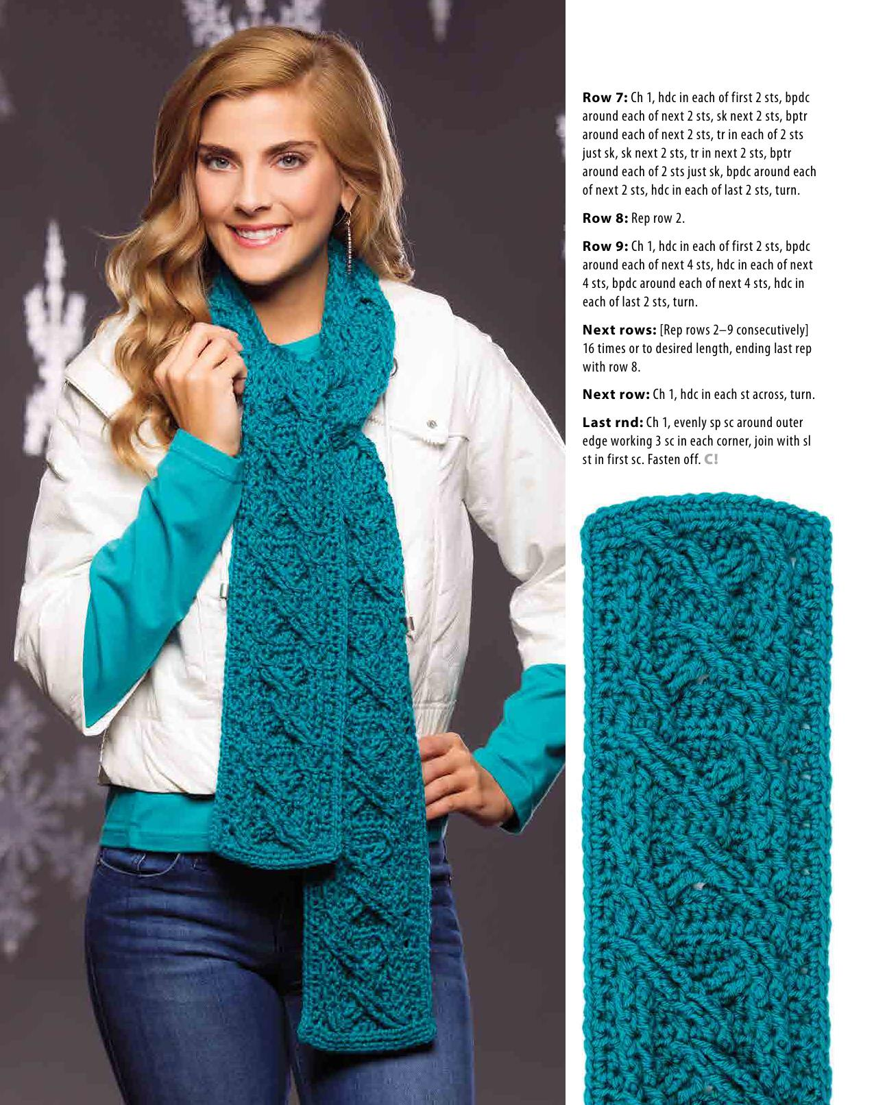 cable scarf crochet 1