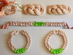 chain crochet necklace