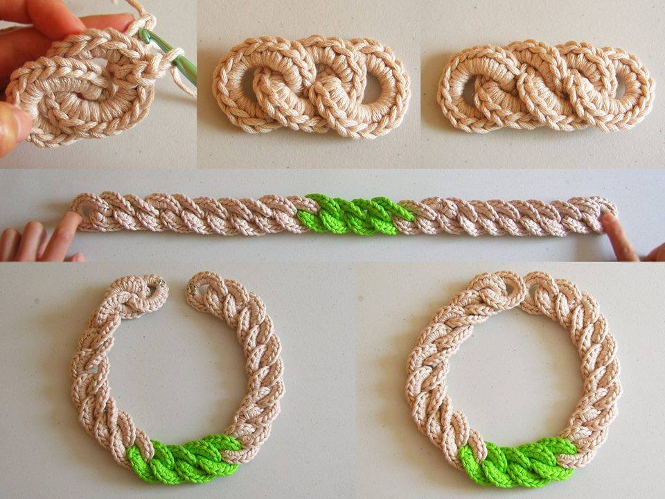 Crochet Chunky Chain Necklace Crochet Kingdom