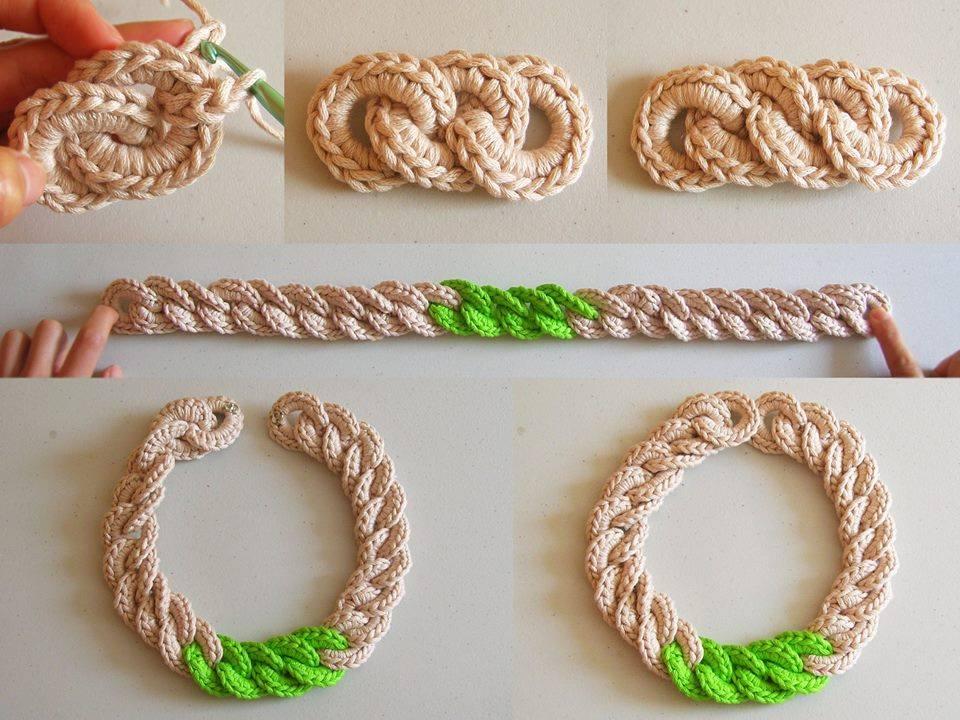 Crochet Chunky Chain Necklace ⋆ Crochet Kingdom