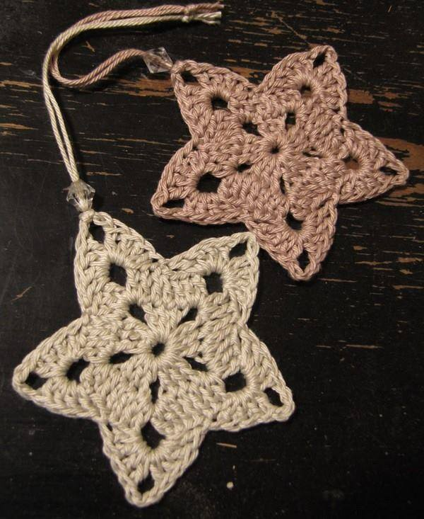 Free Crochet Pattern Christmas Star : Christmas Stars Crochet Ornament ? Crochet Kingdom